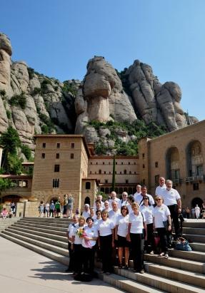 En la entrada a Montserrat