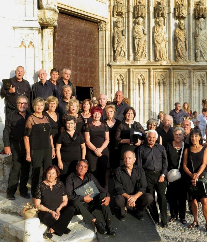 Coro Lirain en Castello de Empuries, el 15 de agosto de 2015